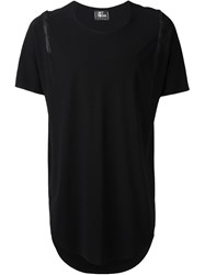Lost And Found Distressed Detail T Shirt Black