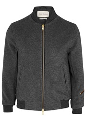 Oliver Spencer Bermondsey Grey Wool Bomber Jacket