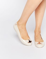 Vivienne Westwood For Melissa Rose Space Orb Flat Shoes Roseorb
