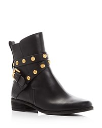 See By Chloe Janis Studded Ankle Strap Booties Black Brass