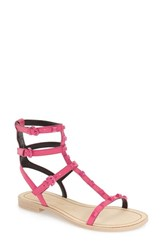 Women's Rebecca Minkoff 'Georgina' Studded Leather Sandal Fuschia