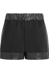 Givenchy Shorts In Neoprene With Leather Trims