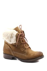 Diba Jay Neen Faux Shearling Bootie Brown