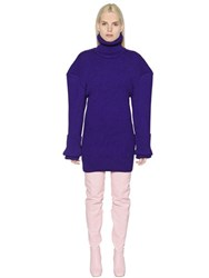 Jacquemus Oversized Shoulders Wool Sweater Dress