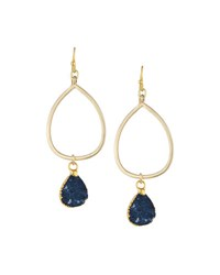 Nakamol Golden Teardrop Druzy Earrings No Color