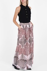 Paul And Joe Chiffon Printed Maxi Skirt Pink