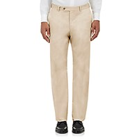 Barneys New York Men's Twill Trousers Ivory