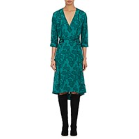 Maison Mayle Women's Georgette Wrap Dress Green