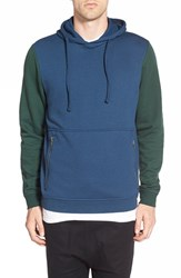 Men's The Rail Contrast Sleeve Hoodie Blue Insignia