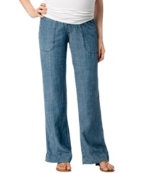 A Pea In The Pod Maternity Chambray Wide Leg Pants