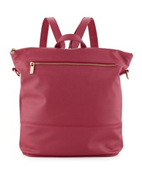 Neiman Marcus Saffiano Faux Leather Square Backpack Berry Pink
