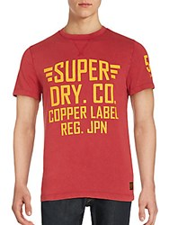 Superdry Solid Letter Print Tee Red