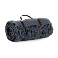 Tweedmill Pure New Wool Picnic Blanket Blueberry