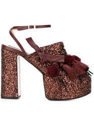 Nao21 Tassel Detail Platform Sandals Red