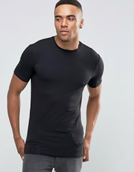 New Look Muscle T Shirt In Black Black