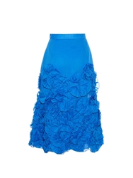 Jonathan Saunders Winona Rosette Applique Cotton Skirt