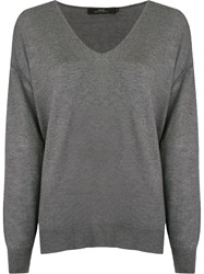 Andrea Marques Longsleeve Knitted Blouse Grey