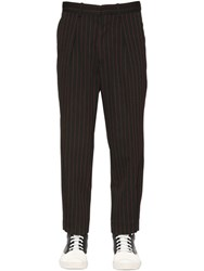 Marni Striped Oversize Wool Gabardine Trousers
