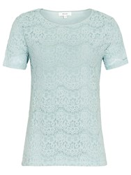 Reiss Rayee Lace T Shirt Arctic