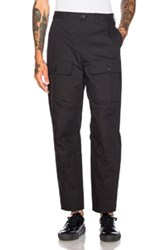 Acne Studios Pat Twill Trousers In Black
