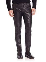 Ovadia And Sons Leather Moto Pants Black
