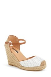 Halogen 'Sandra' Wedge Espadrille Women White