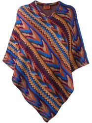 Missoni Ethnic Knitted Poncho Multicolour