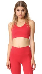 Lucas Hugh Technical Knit Sports Bra Red