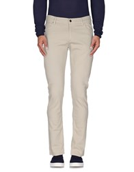 Byblos Denim Denim Trousers Men Beige