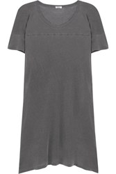 Splendid Vintage Whisper Cotton Jersey Mini Dress Charcoal