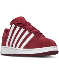 K Swiss Men's Classic Vn Suede Casual Sneakers From Finish Line Biking Red White