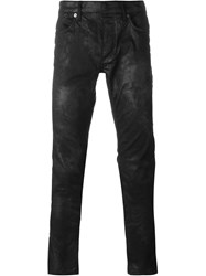 Roberto Cavalli Coated Slim Jeans Black