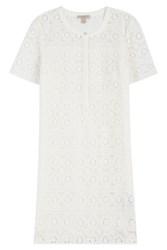 Burberry Brit Cotton Dress With Lace White