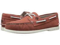 Sperry A O 2 Eye White Cap Canvas Red Men's Lace Up Casual Shoes