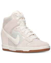 Nike Women's Dunk Sky Hi Premium Casual Sneakers From Finish Line Mtlc Luster Sail Sl Gm Md