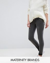 Mama Licious Mamalicious Over The Bump Skinny Jeans Grey