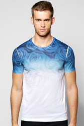 Boohoo Sleeve Floral Sublimation Print T Shirt White