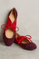 Anthropologie Maliparmi Colorblock D'orsay Flats Red Motif