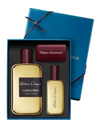 Atelier Cologne Gold Leather Cologne Absolue 200 Ml With Personalized Travel Spray 30 Ml Bordeaux