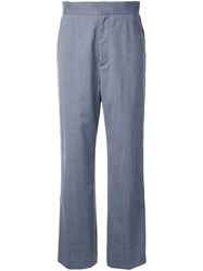 En Route Side Stripe Wide Trousers Grey