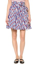 Marc Jacobs Wrap Skirt Blue Red