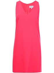 Milly V Neck Dress Pink And Purple