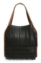 Big Buddha Fringe Faux Leather Hobo