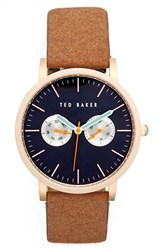 Ted Baker Men's London Multifunction Leather Strap Watch 40Mm