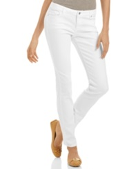 Michael Michael Kors Petite Jeans Skinny Leg Optic White Wash