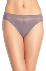 Women's Natori 'Bliss Perfection' Thong Grey 3 For 45 Gunmetal