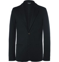 Giorgio Armani Blue Slim Fit Unstructured Cashmere Blazer Midnight Blue