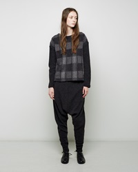 Zucca Wool Sweater Pants Charcoal Grey