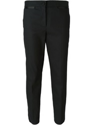 Burberry Prorsum Cropped Tuxedo Trousers Black