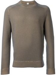 Massimo Alba Crew Neck Jumper Brown